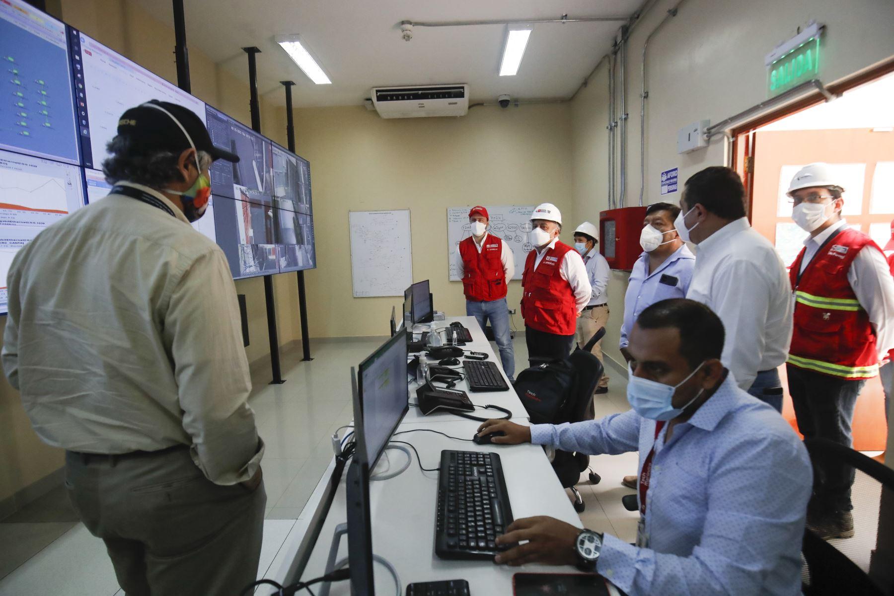Ministro de Transporte y Comunicaciones, Eduardo González, participa de la supervisión del avance del Proyecto de banda ancha en la Región Lima. Foto:ANDINA/Juan Carlos Guzmán