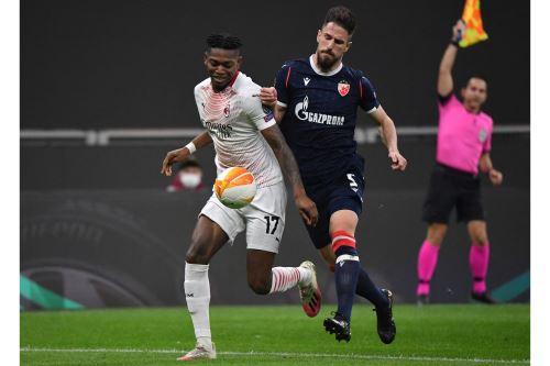 AC Milan empata 1-1 ante Estrella Roja por la Europa League