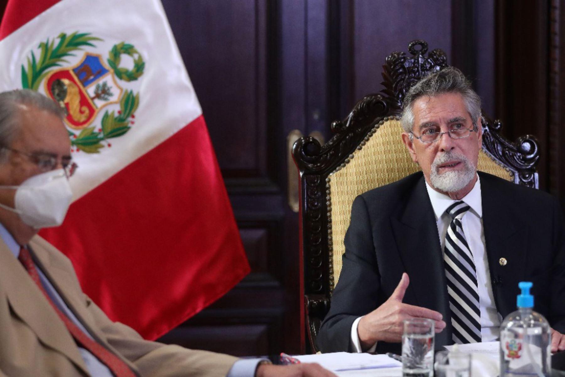 El presidente Francisco Sagasti, participó, de manera virtual, en la V Cumbre Extraordinaria de jefes de Estado del Foro Prosur, mecanismo y espacio de diálogo y cooperación de los países de América del Sur. Foto:ANDINA/presidenciaperu