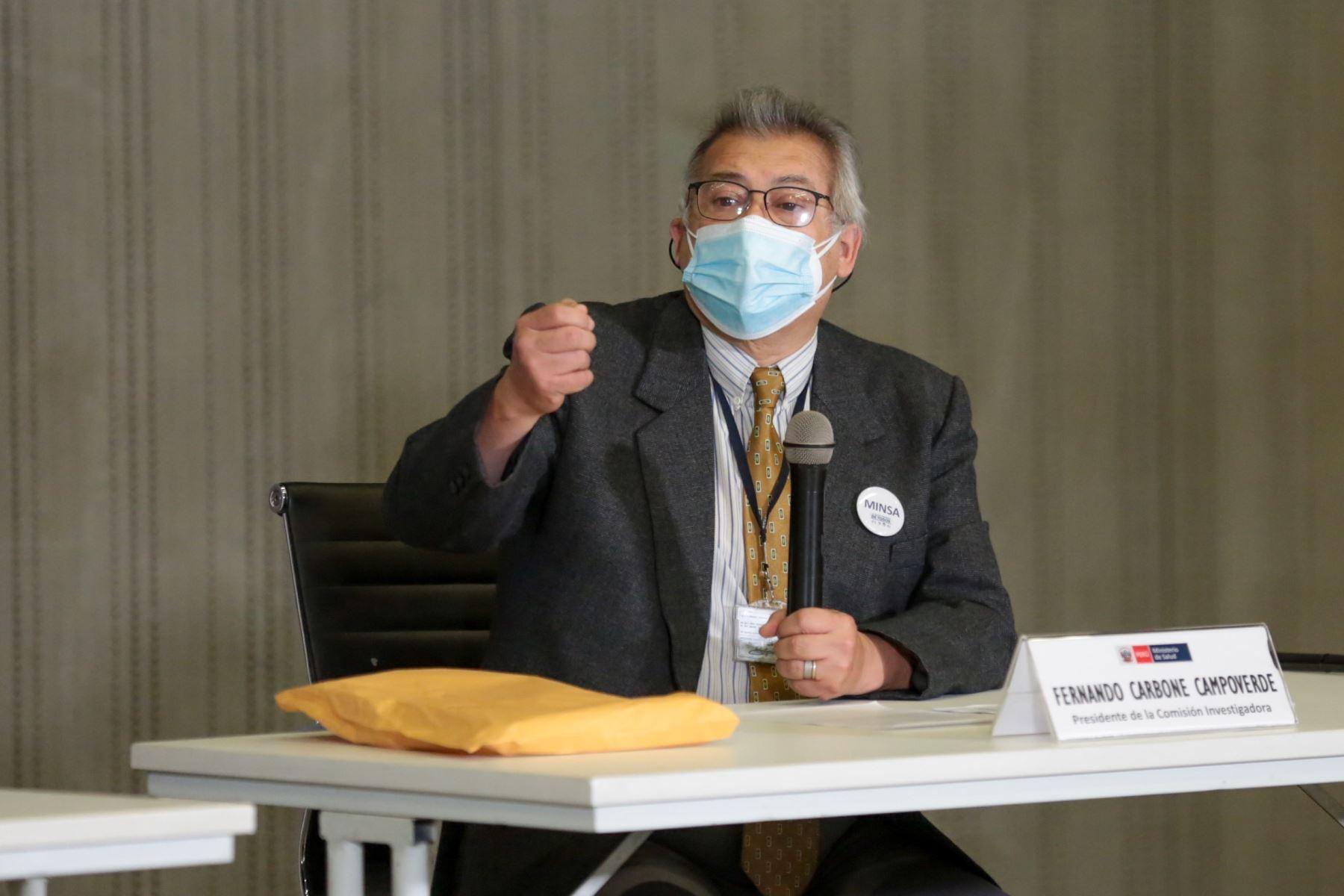 Fernando Carbone hizo precisiones sobre la comisión investigadora que presidió. Foto: ANDINA/difusión.