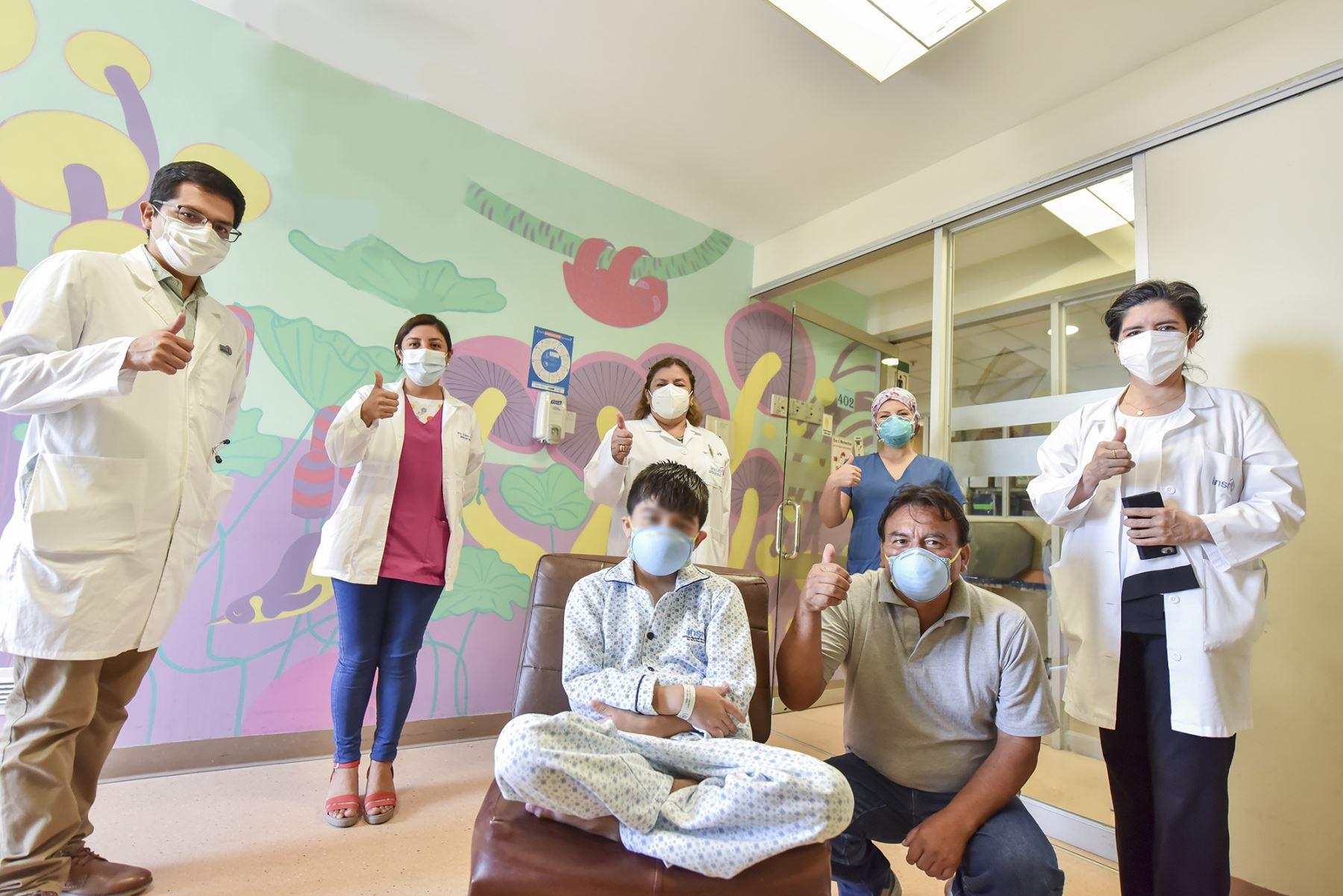 El INSN de San Borja supera las dificultadas generadas por la emergencia sanitaria y lleva a cabo exitosos trasplantes de órganos a menores de edad. Foto: ANDINA/INSN
