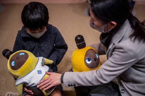 Los estudios han demostrado que los robots para mascotas fabricados en Japón pueden reconfortar a las personas con demencia.  Foto: AFP