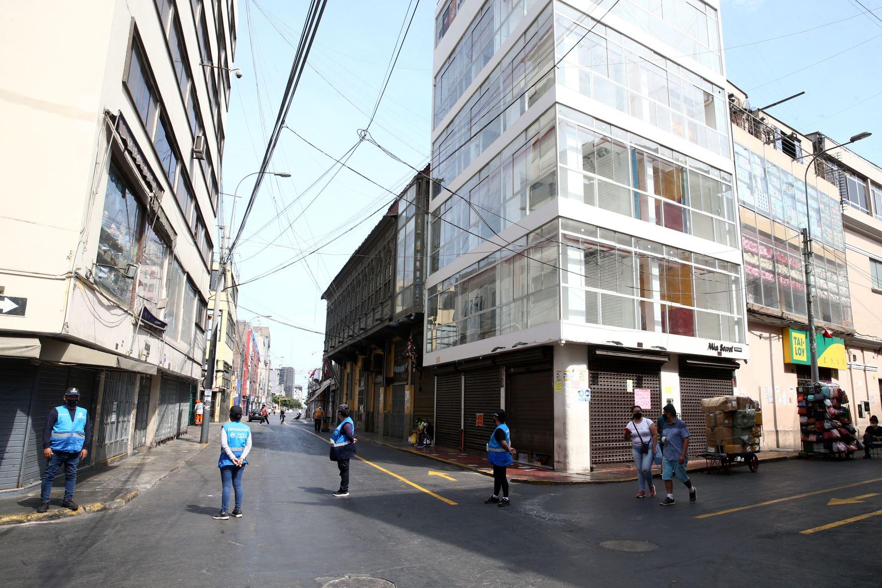 Hoy es el último día de la cuarentena establecida por el Gobierno para enfrentar el covid-19 en Lima Metropolitana, el Callao y demás provincias consideradas en nivel de alerta extremo.  Foto: ANDINA/Vidal Tarqui