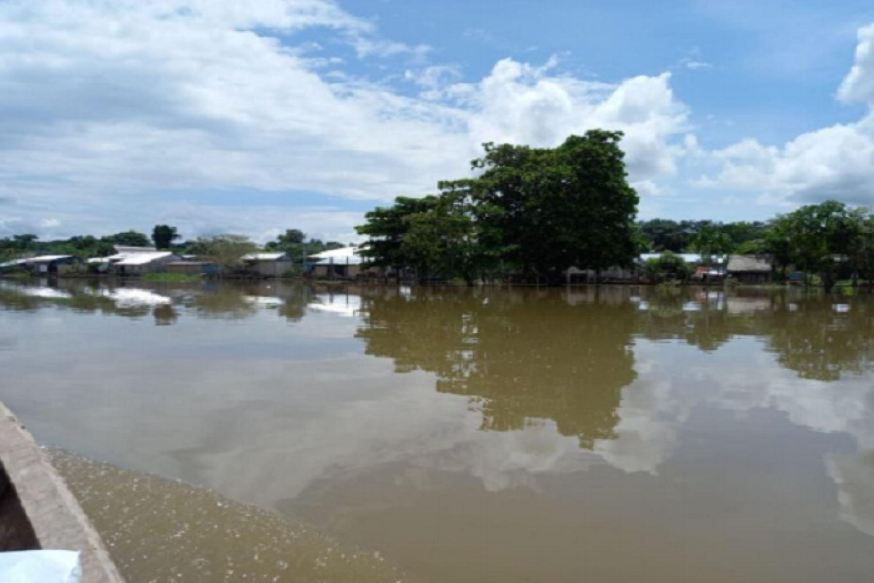 Las inundaciones no registran daños a la vida ni a la salud de los pobladores de la zona.