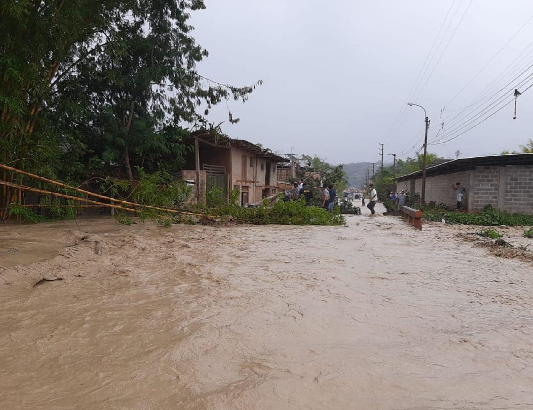 San Martín reportó emergencias por lluvias intensas e inundaciones en diversas provincias. ANDINA/Difusión