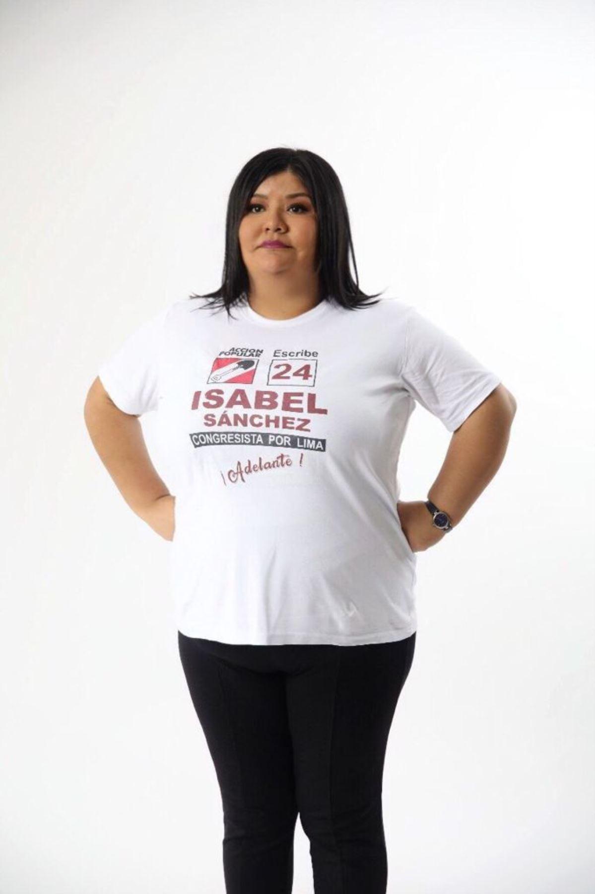 Isabel Sánchez, candidata al Congreso con el número 24 de Acción Popular.