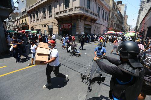 Cercado de Lima: así luce Mesa Redonda tras levantamiento de la cuarentena y reapertura de centros comerciales
