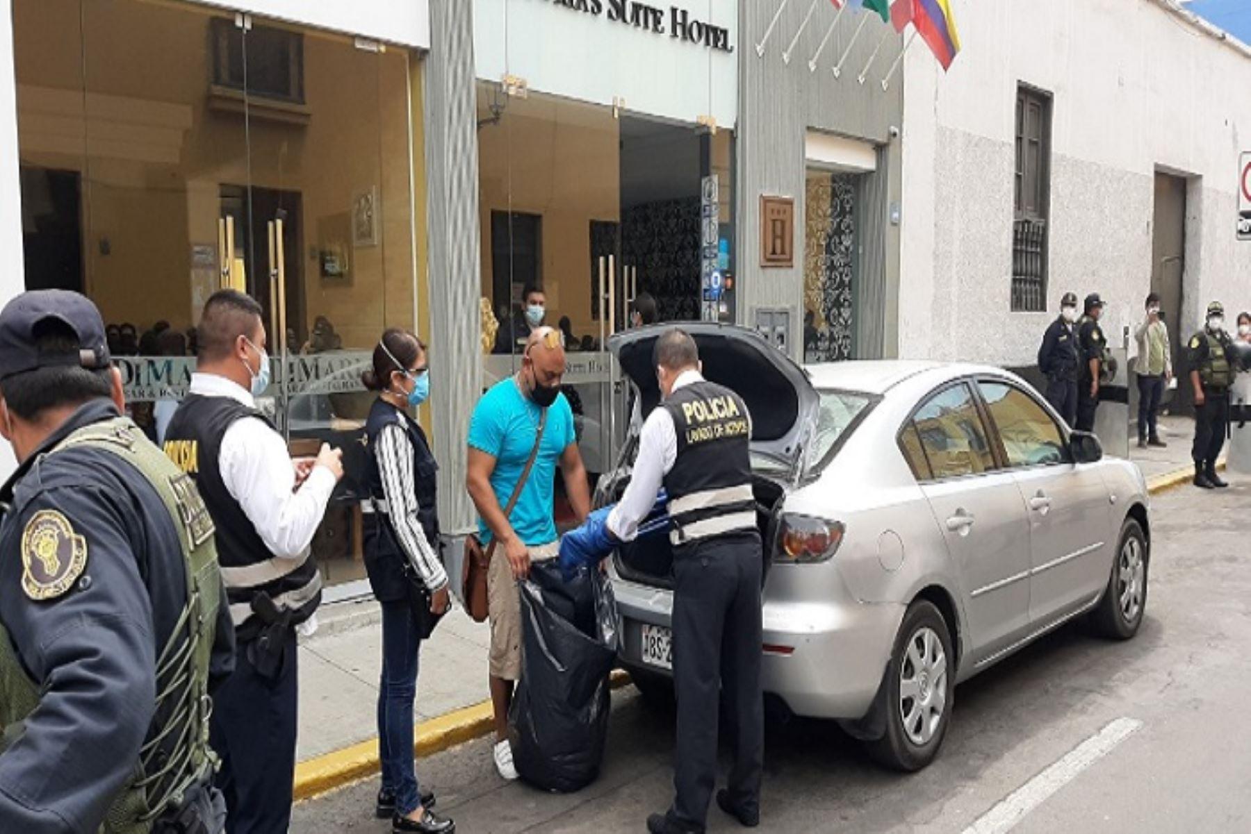 La mayoría de los inmuebles allanados son de propiedad del empresario trujillano, Gerson Rivelino González Porras, dueño de la empresa de seguridad Tanks Perú.