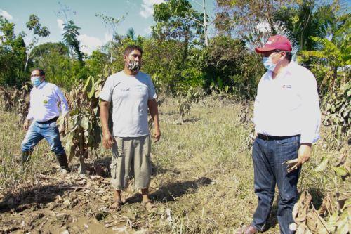 Ministro del Ambiente y ministro de Agricultura llegan a Madre de Dios para implementar acciones en zonas agropecuarias inundadas