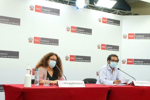 Ministro de la Producción y ministra de Desarrollo e Inclusión Social brindan conferencia de prensa