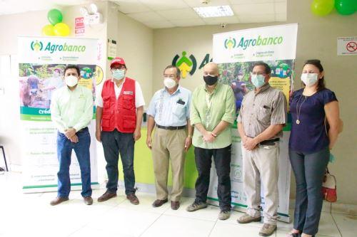 Reapertura de la Oficina Especial (OE) del Agrobanco en Puerto Maldonado. Cortesía Midagri.