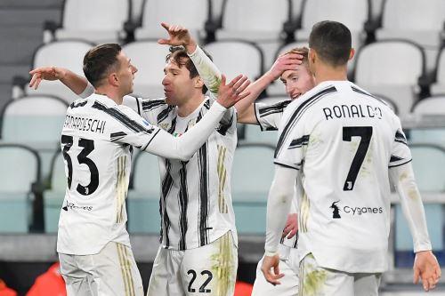 Juventus vence 3 - 0 a Spezia por la Serie A de la Liga italiana