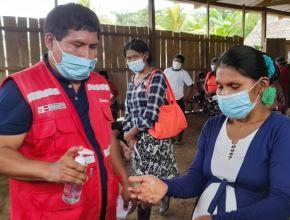 Programa Juntos y la red de salud Condorcanqui unen sus esfuerzos para fortalecer los controles sanitarios para prevenir el covid-19 en las zonas de frontera de esa provincia ubicada en Amazonas. Foto: ANDINA/difusión.