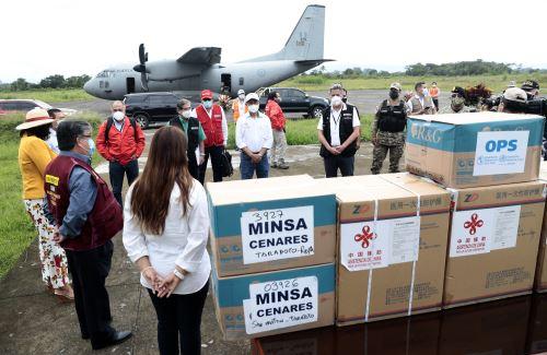 Presidente Sagasti llega a la región San Martín para la entrega de equipamiento médico