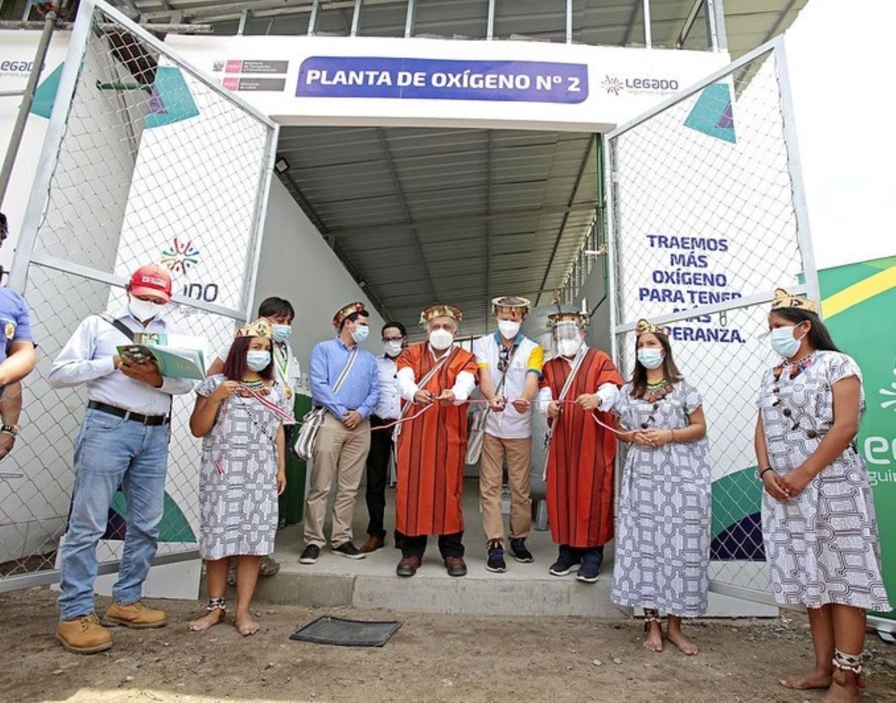 Con la presencia del titular del MTC, Eduardo González, el Proyecto Legado puso en marcha segunda planta de oxígeno para pacientes covid-19 en Pichanaqui, en Junín. ANDINA/Difusión