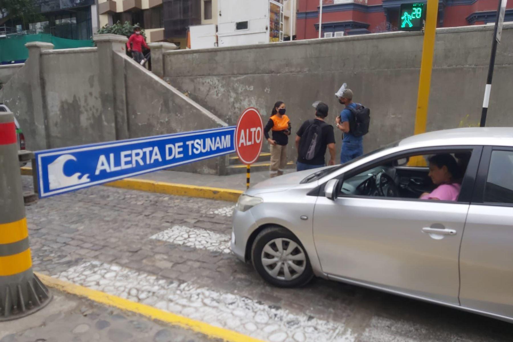 El circuito de playas en Miraflores permanece cerrado como medida de prevención. Foto: ANDINA/Difusión