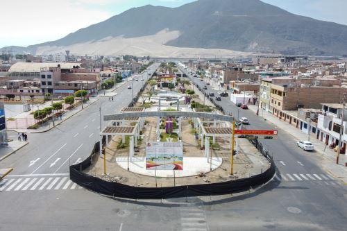 Vista panorámica de un sector de la ciudad de Chimbote, en la zona costera de la región Áncash.