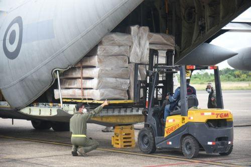 La empresa PetroTal hizo donación para combatir el covid-19 en la región Loreto. Foto: ANDINA/Difusión