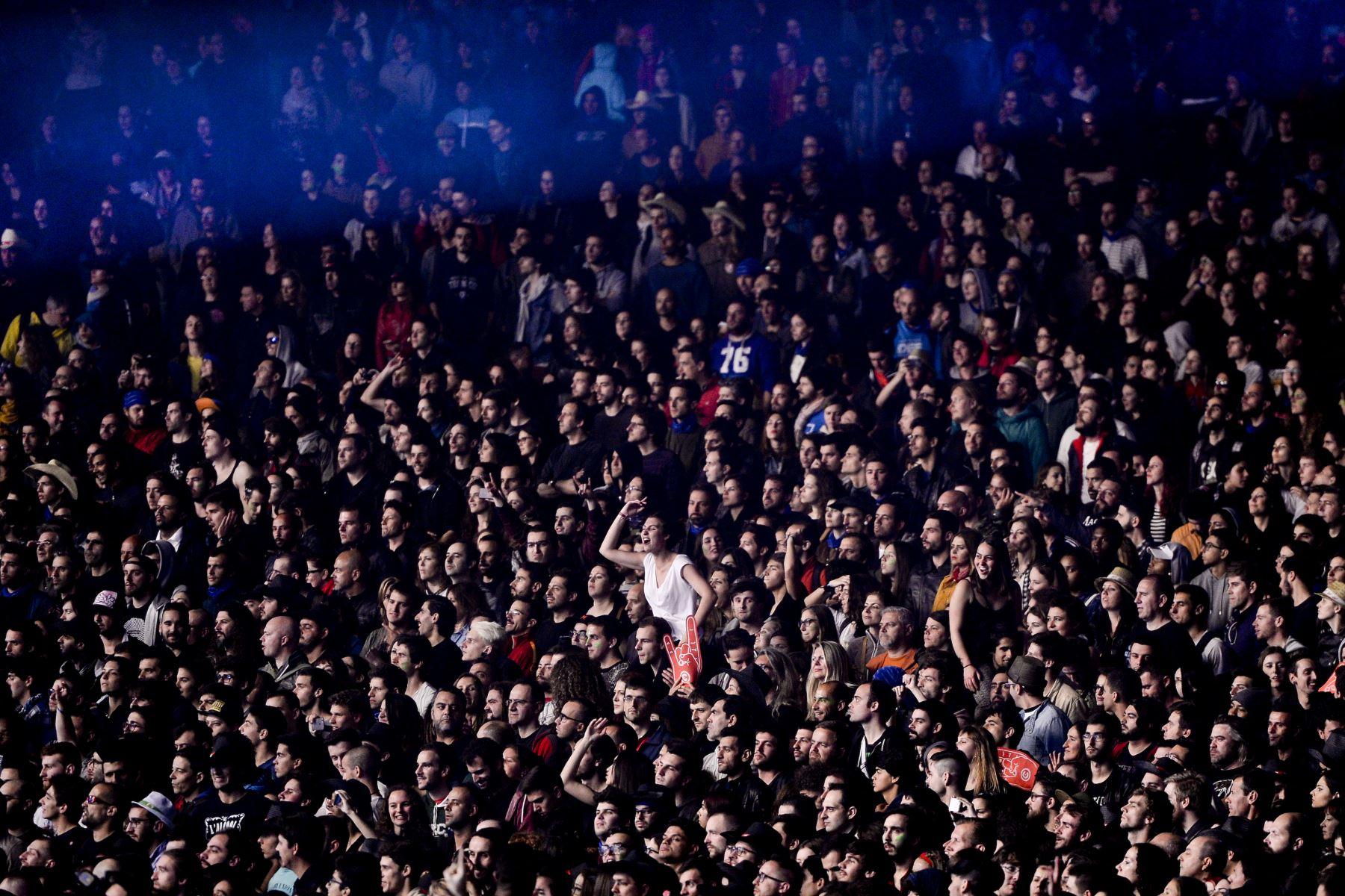 Rock in Rio ha ofrecido, en 35 años de vida y 20 ediciones en Río de Janeiro, Lisboa, Madrid y Las Vegas, 119 días de conciertos y 2.338 atracciones musicales, vistas por unos 10,2 millones de espectadores. Foto: AFP