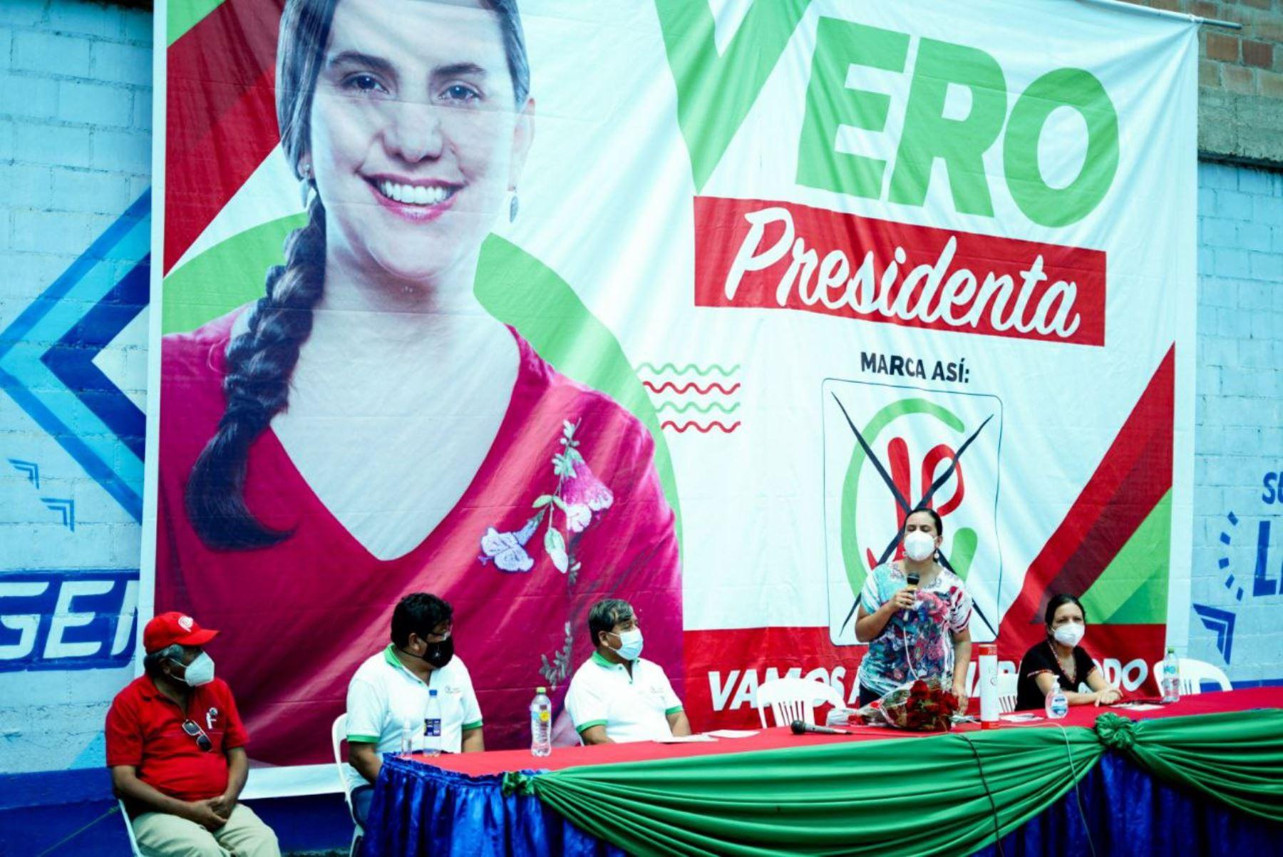 Verónika Mendoza en Región Moquegua