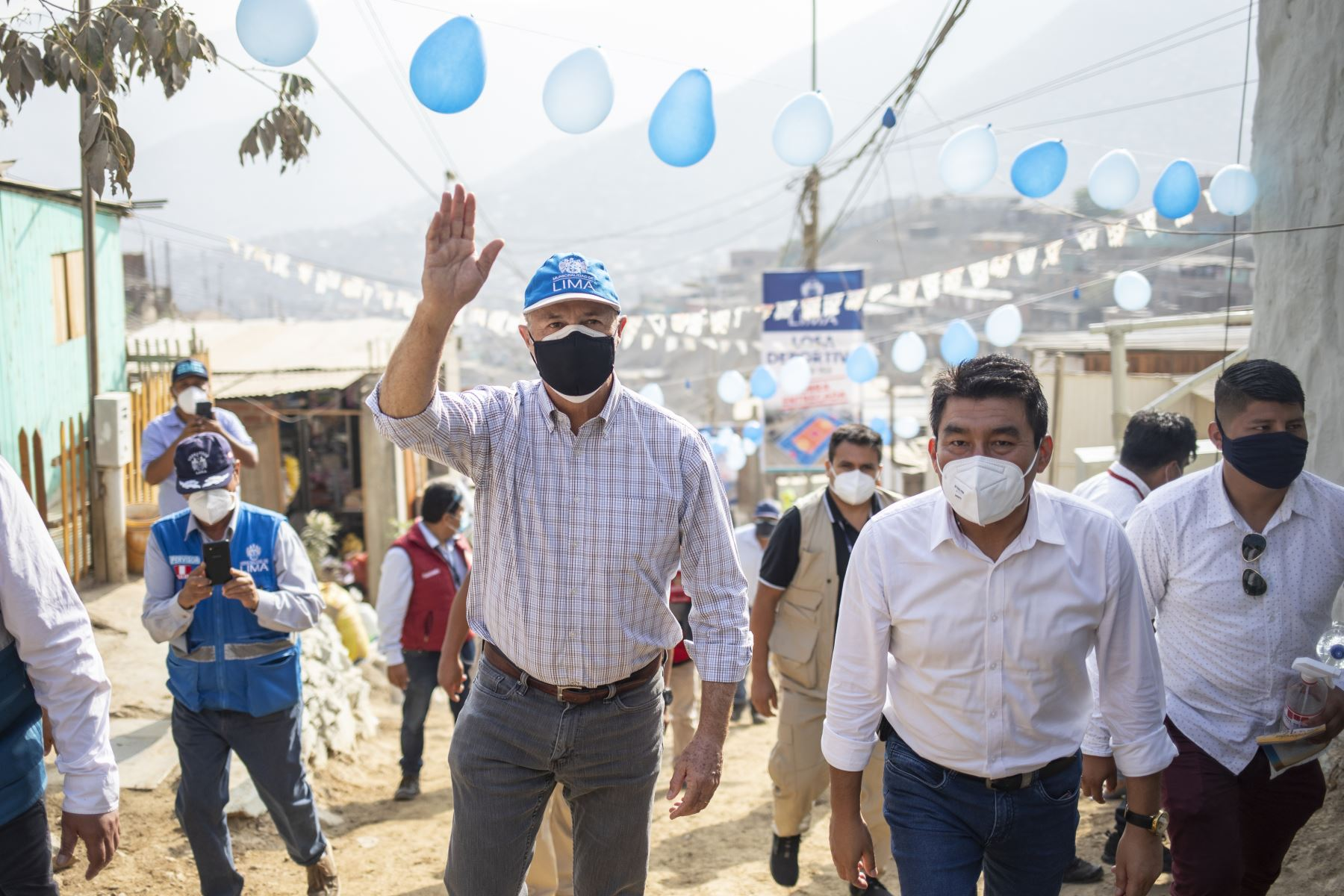 Alcalde de Lima entrega obras sociales zonas vulnerables de Ate Foto: ANDINA/Municipalidad de Lima