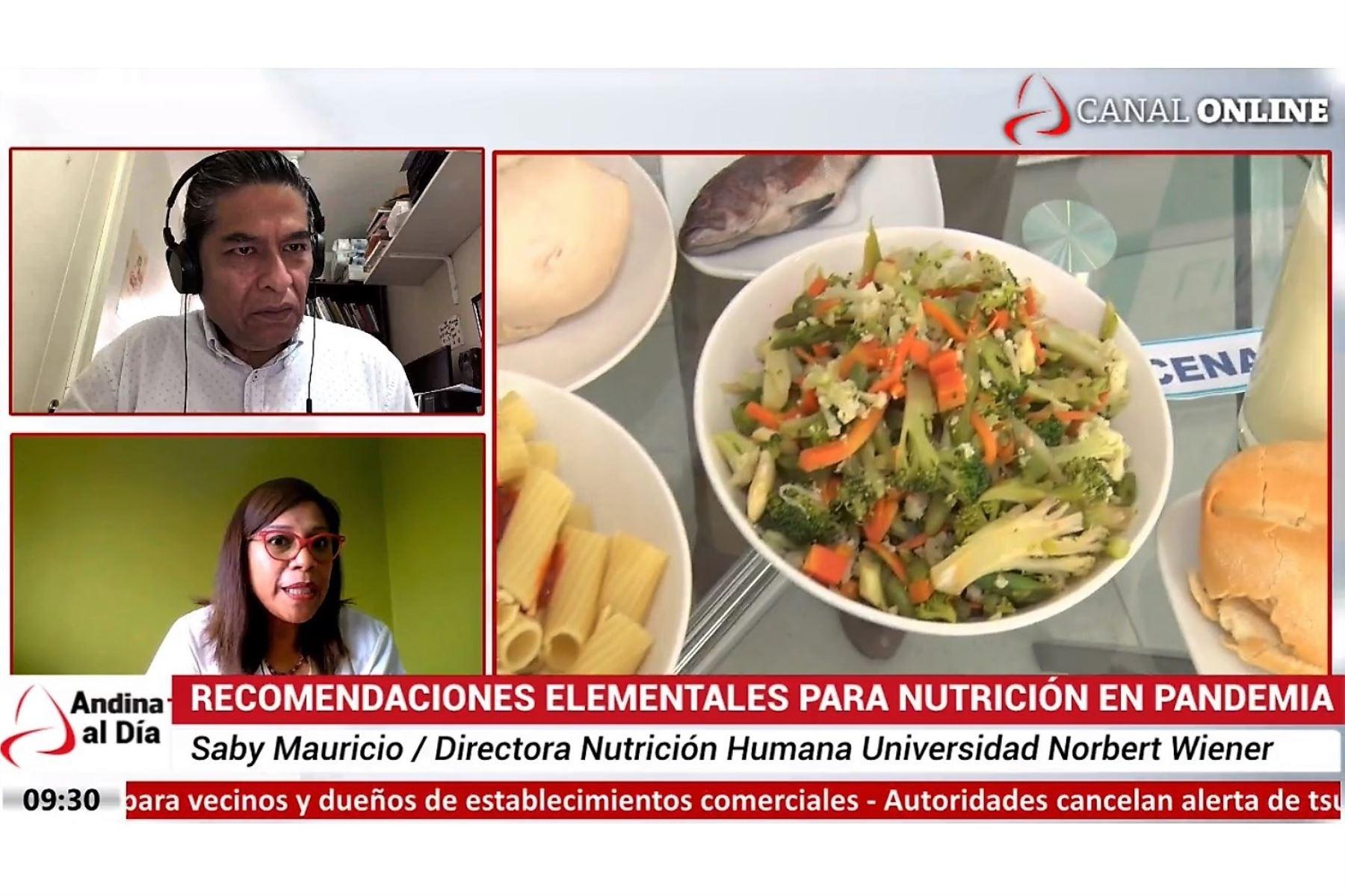 Nutricionista Saby Mauricio en