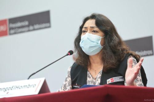 Presidenta del Consejo de Ministros brinda conferencia de prensa