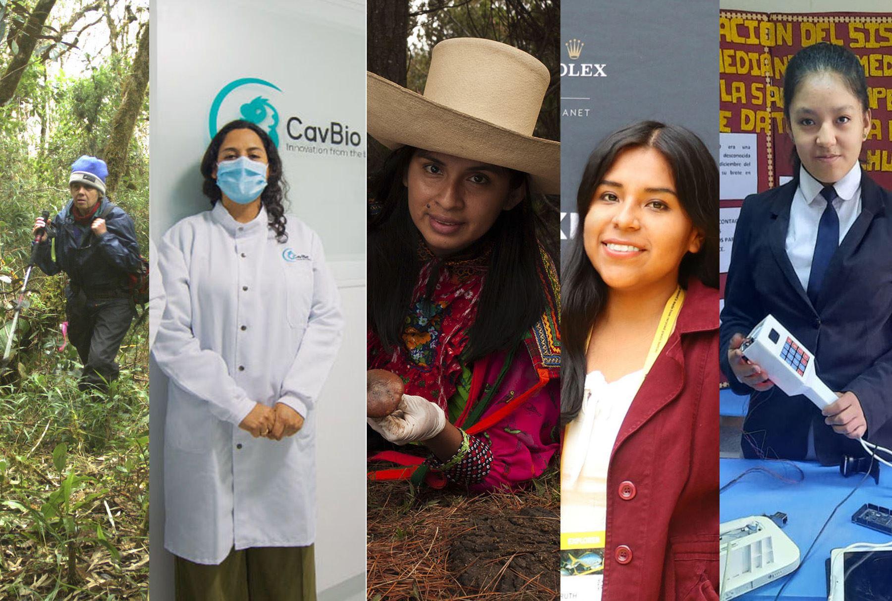 Mariella Leo (bióloga), Milagros Zavaleta (bióloga molecular), Margareth Manayay (ingeniera agrícola), Ruth Quispe (bióloga molecular) y la escolar Estrella Esquivel nos inspiran con sus historias.