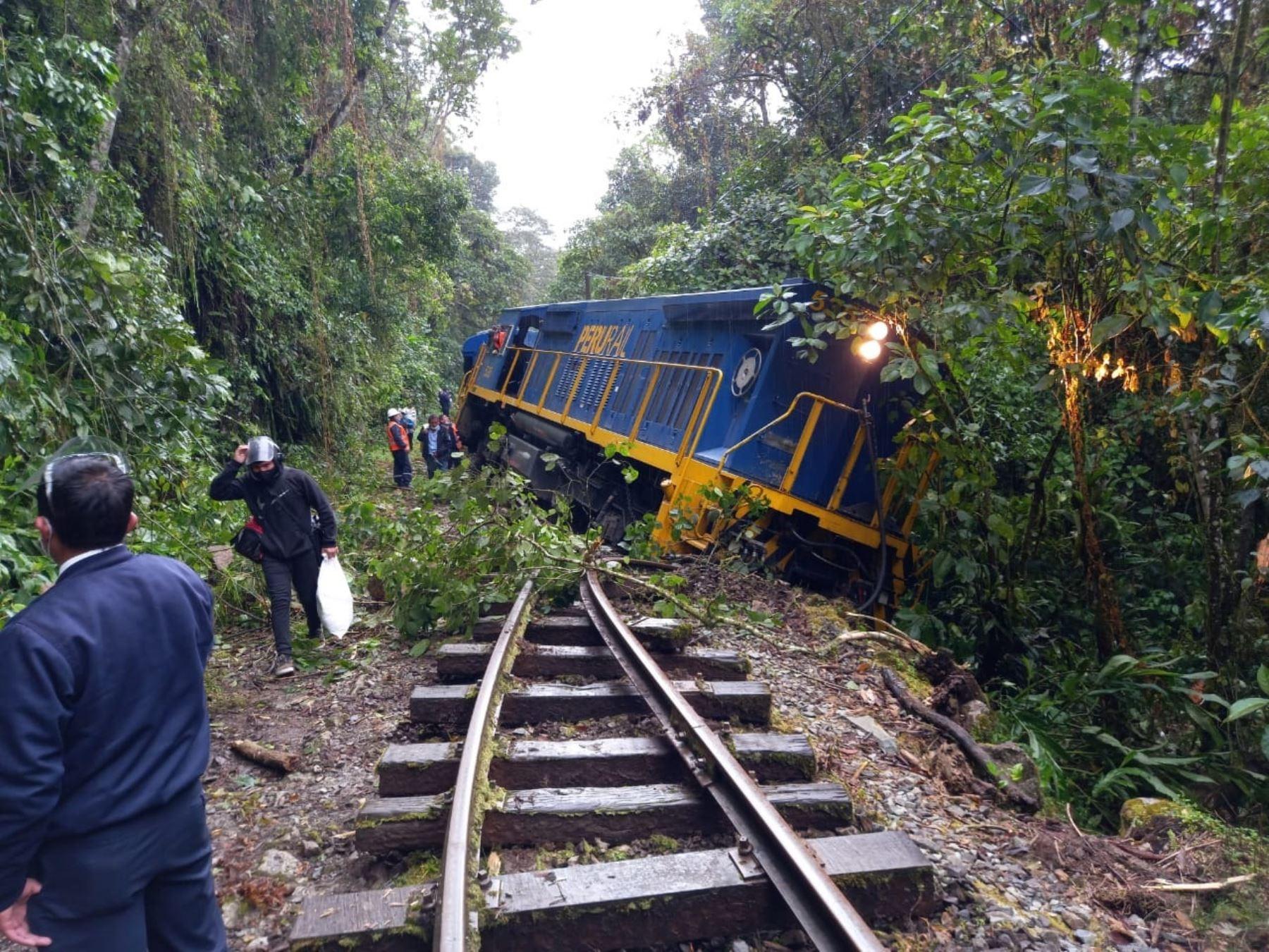 Tren se descarriló hoy en la ruta Machu Picchu Hidroeléctrica sin causar daños personales, informó la Policía Nacional.