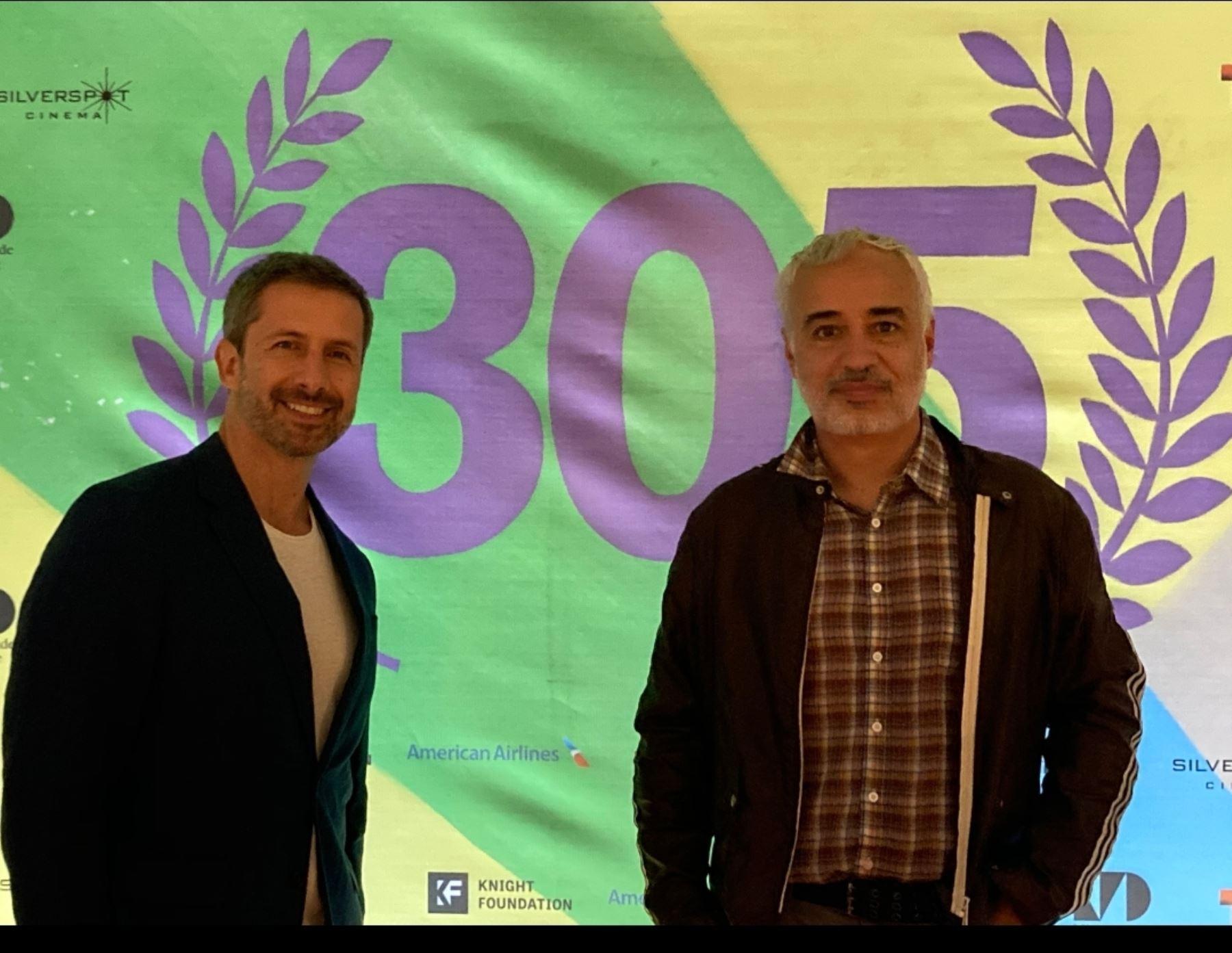 Marco Zunino y Javier Fuentes León presentes