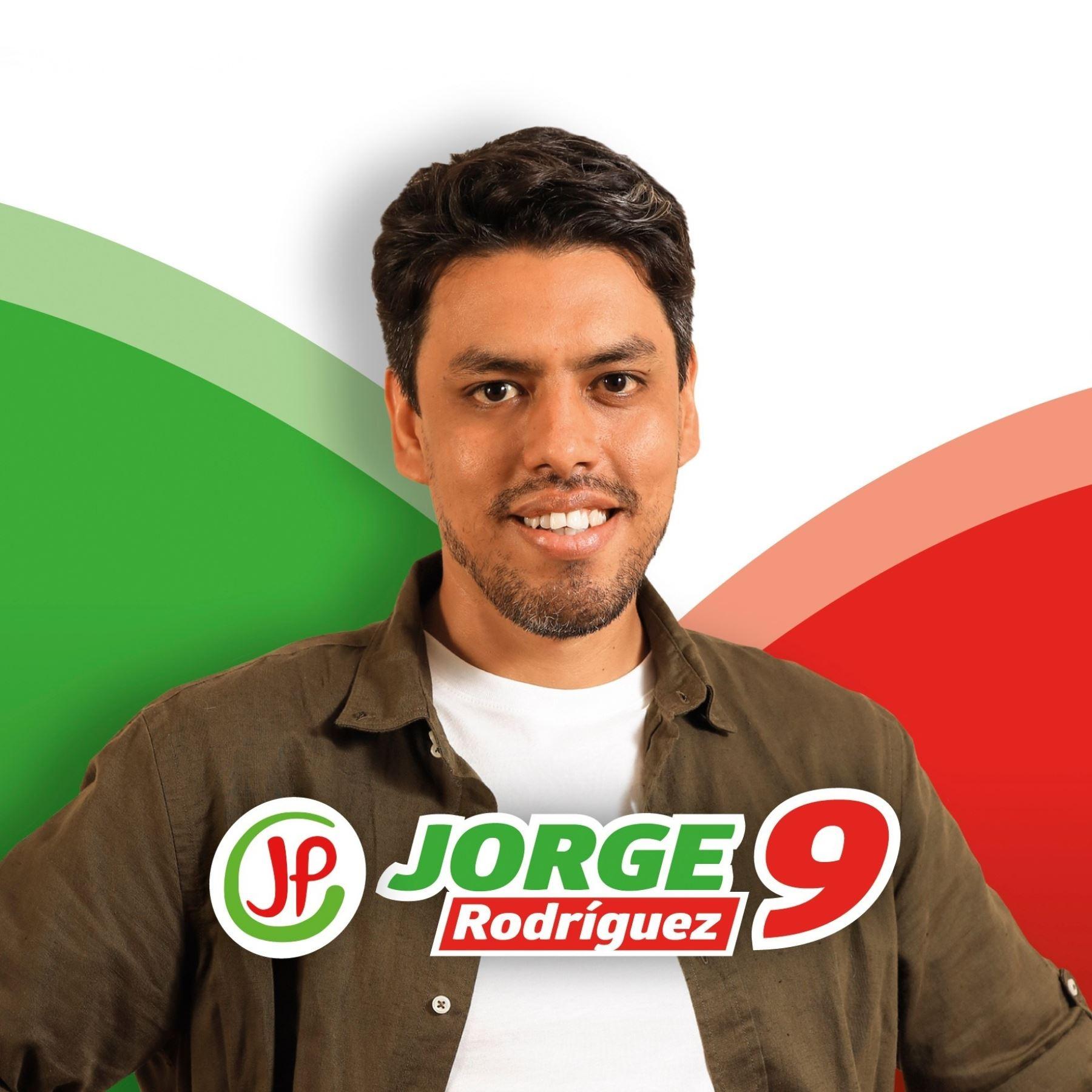 Jorge Rodríguez, candidato al Congreso con el número 9 de Juntos por el Perú.