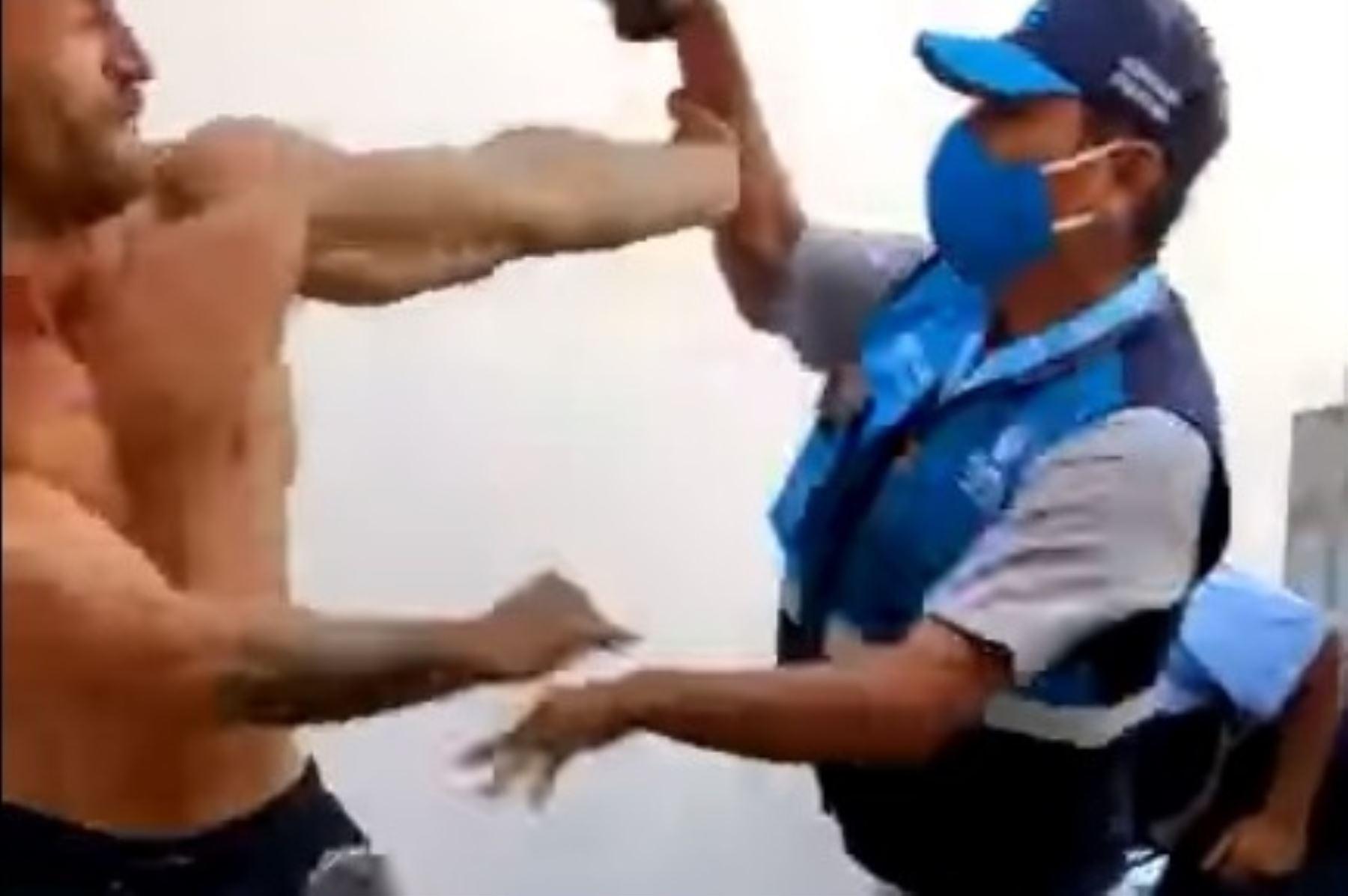 ATU condena actos de violencia entre fiscalizadores de Punta Hermosa con un ciudadano. Foto: ANDINA/Difusión.
