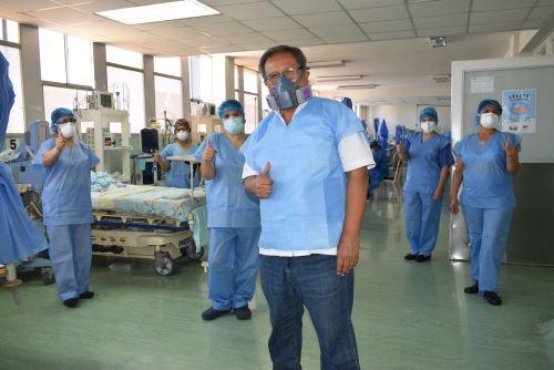 Doctor Eduardo Sánchez, médico del INS-Breña. Foto: INSN-Breña