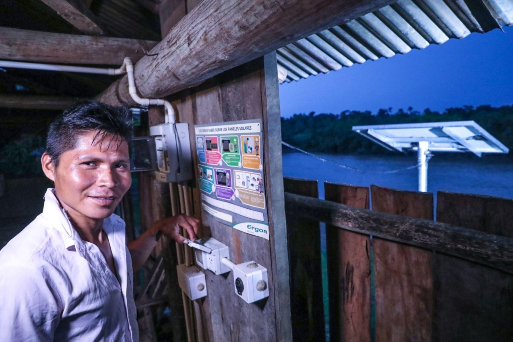 Panel solar en vivienda rural. Foto: Cortesía.