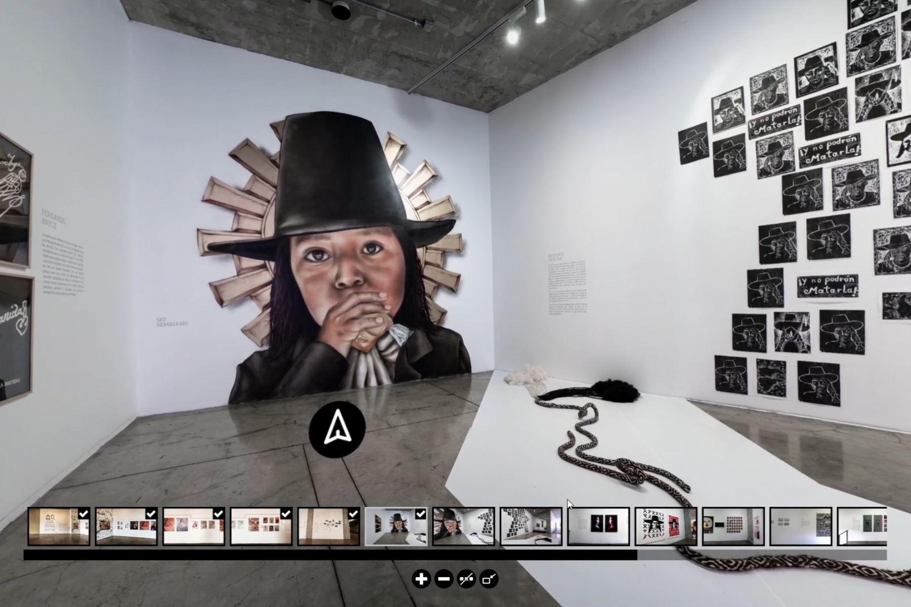 Muestra virtual 360° 'Túpac Amaru y Micaela Bastidas: memorias, símbolos y misterios' en el Lugar de la Memoria (LUM). Foto: ANDINA/Difusión