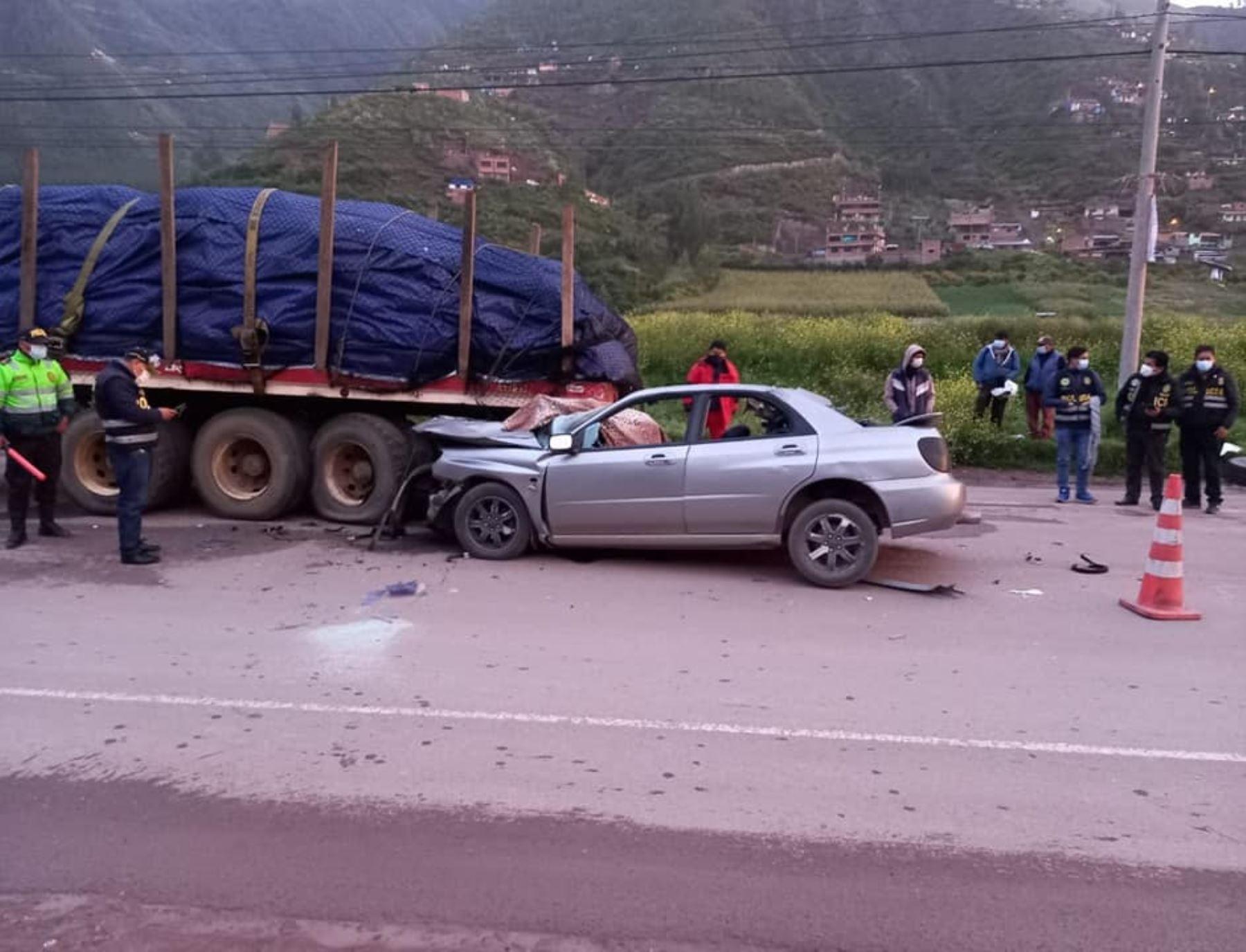 Policía muere en Cusco a causa de lamentable accidente de tránsito ocurrido en la carretera Cusco-Arequipa. ANDINA/Difusión