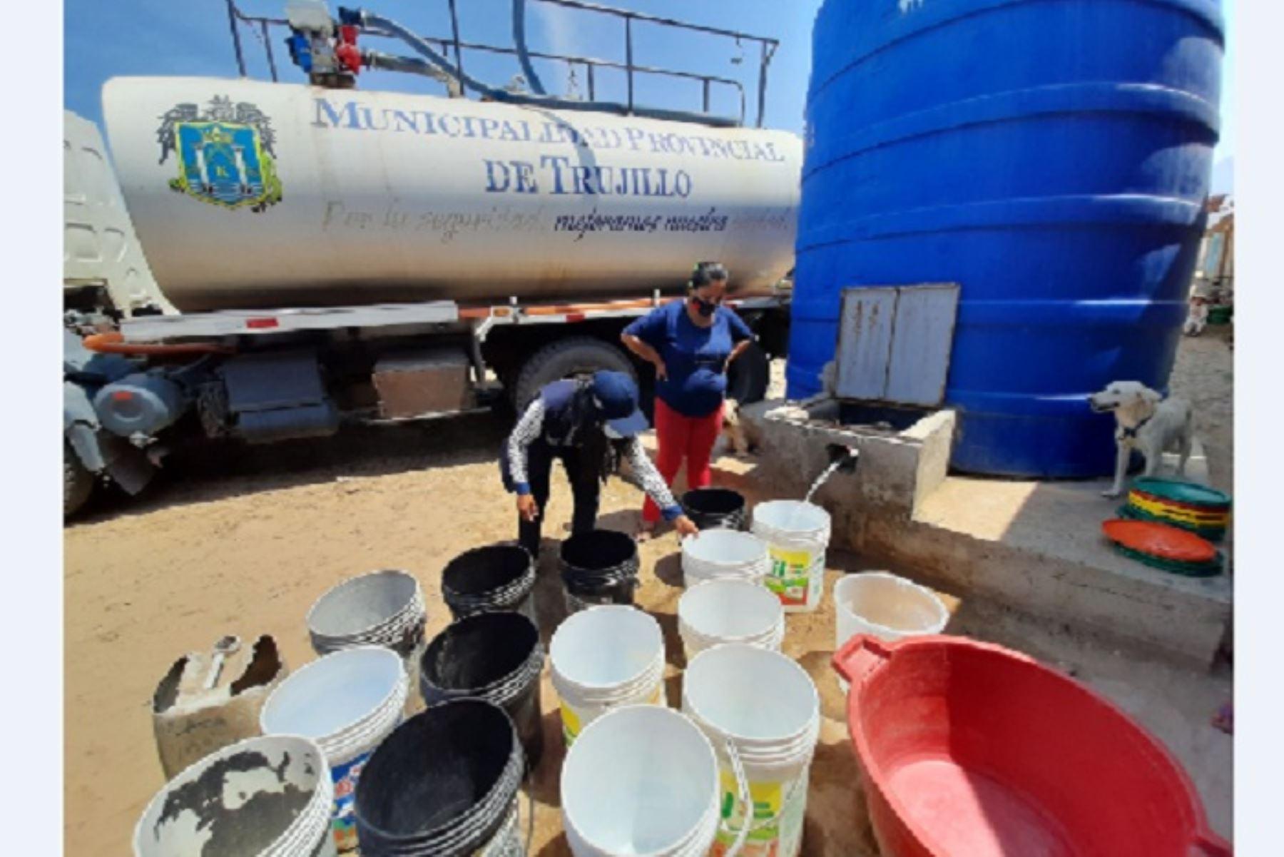 Durante el 2020 se repartieron más de 13,205,000 litros de agua potable a varios centros poblados.