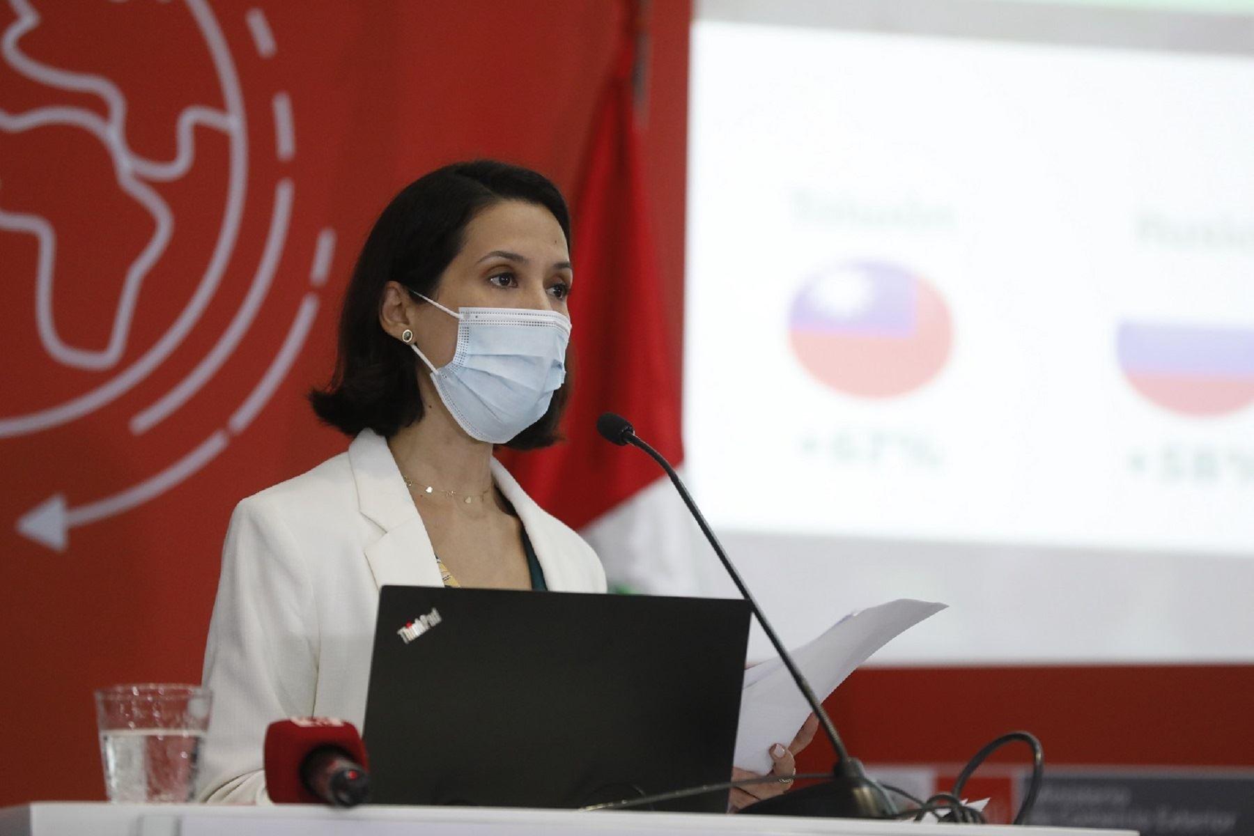 Ministra de Comercio Exterior y Turismo, Claudia Cornejo. Cortesía Mincetur