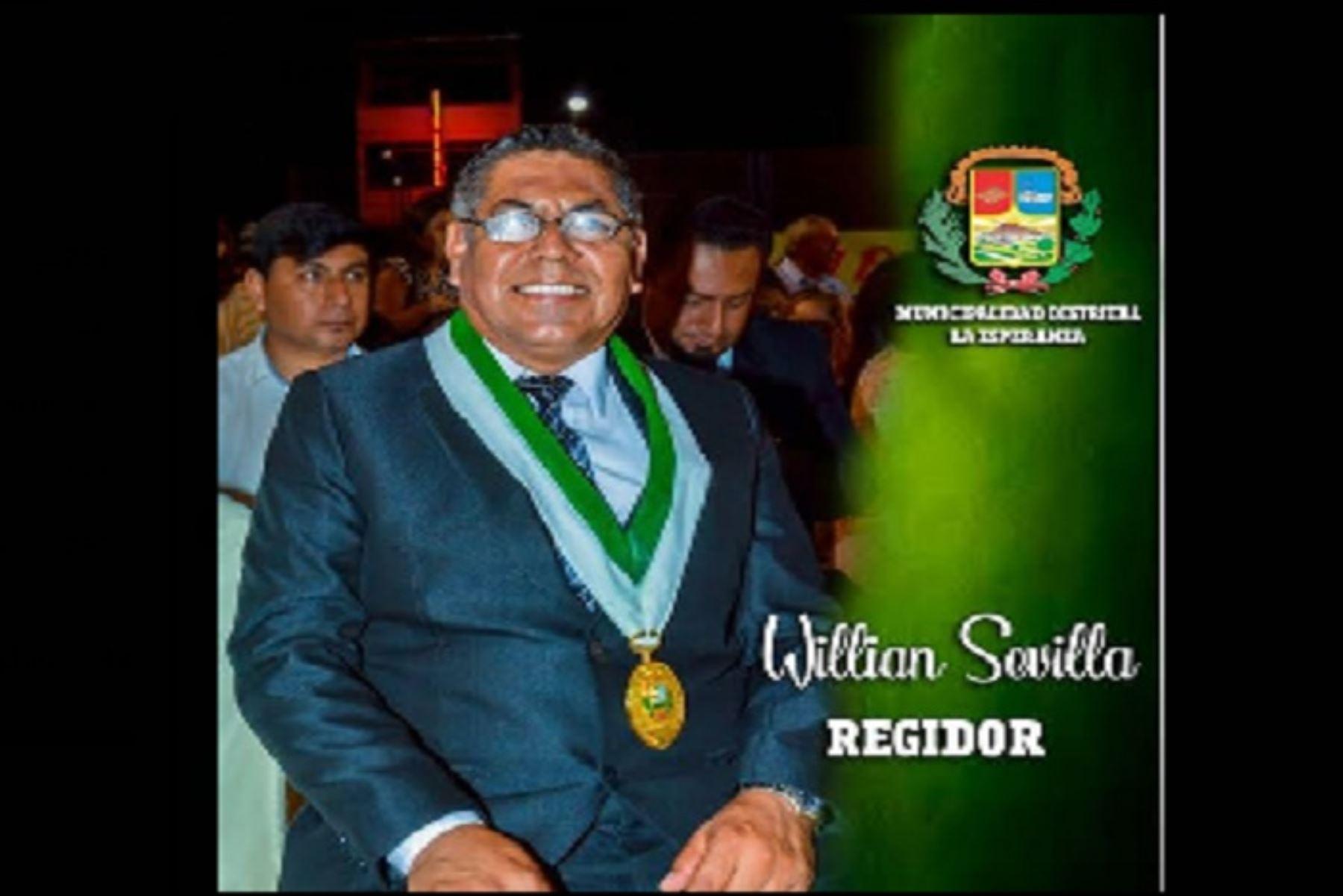 Regidor Ricardo William Sevilla Balbuena estuvo internado en el Hospital Regional Docente de Trujillo,