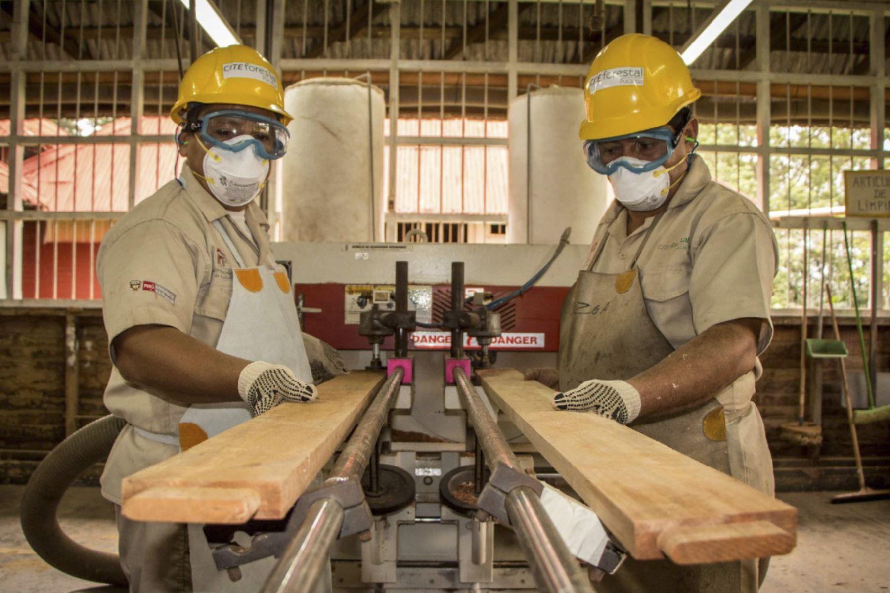 Industrialización de la madera. ANDINA/Difusión