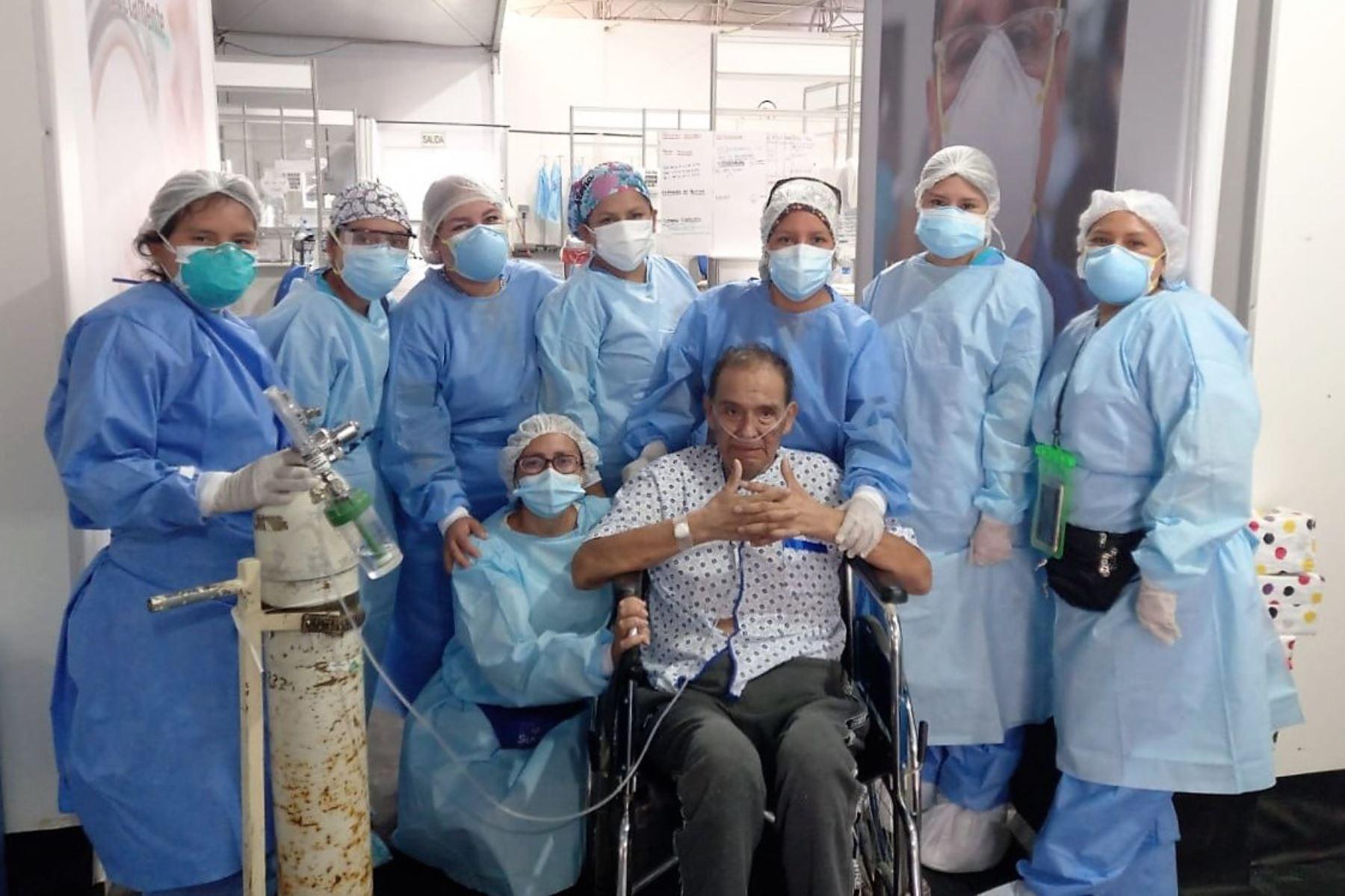 Benito Chachapoyas Villón derrotó al covid-19 con ayuda del personal de hospital Eleazar Guzmán Barrón de Chimbote. Foto: ANDINA/Difusión