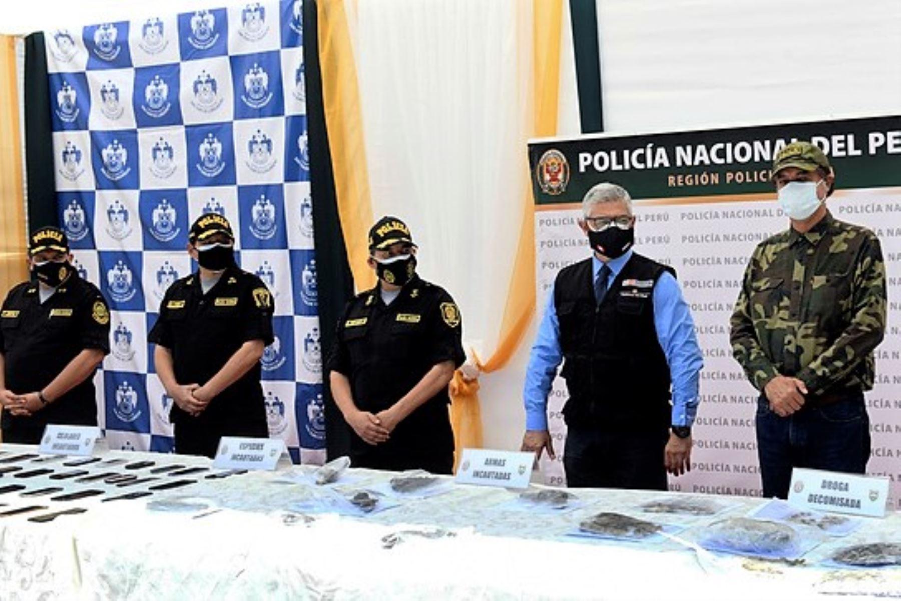 Ministro del Interior, José Elice, presenta los resultados del plan operativo de la PNP San Juan de Lurigancho 2021.