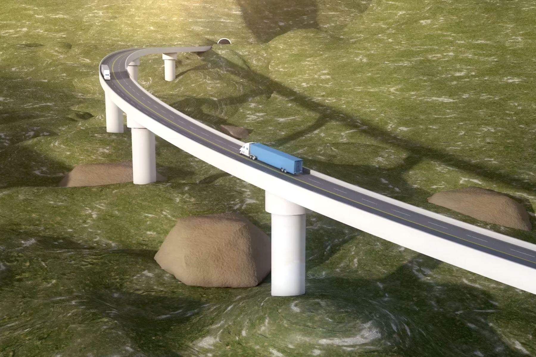 Proyecto de la nueva Carretera Central. Captura TV