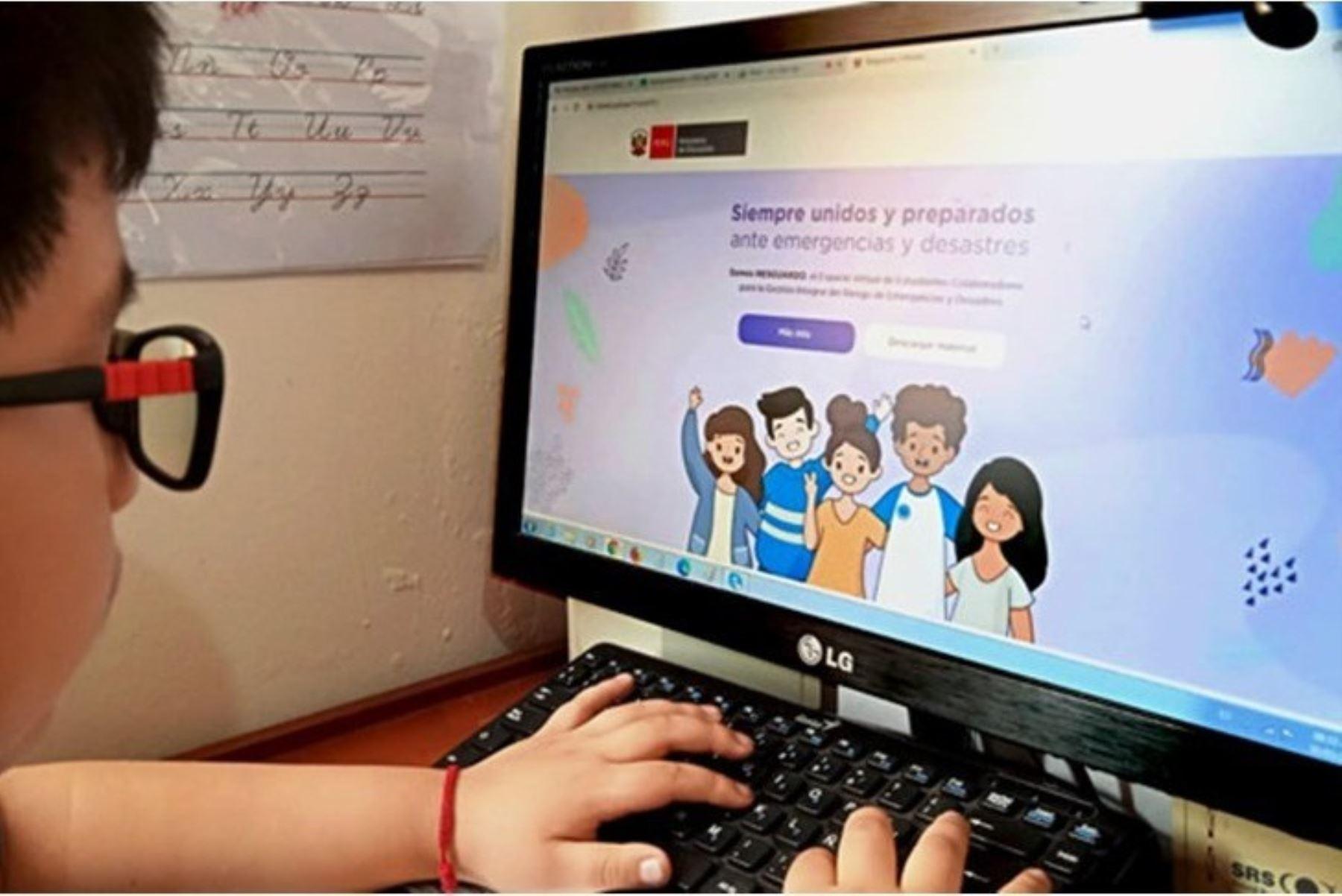 Estudiantes difundirán iniciativas ante emergencias y desastres en web del Minedu. Foto: ANDINA/Difusión.
