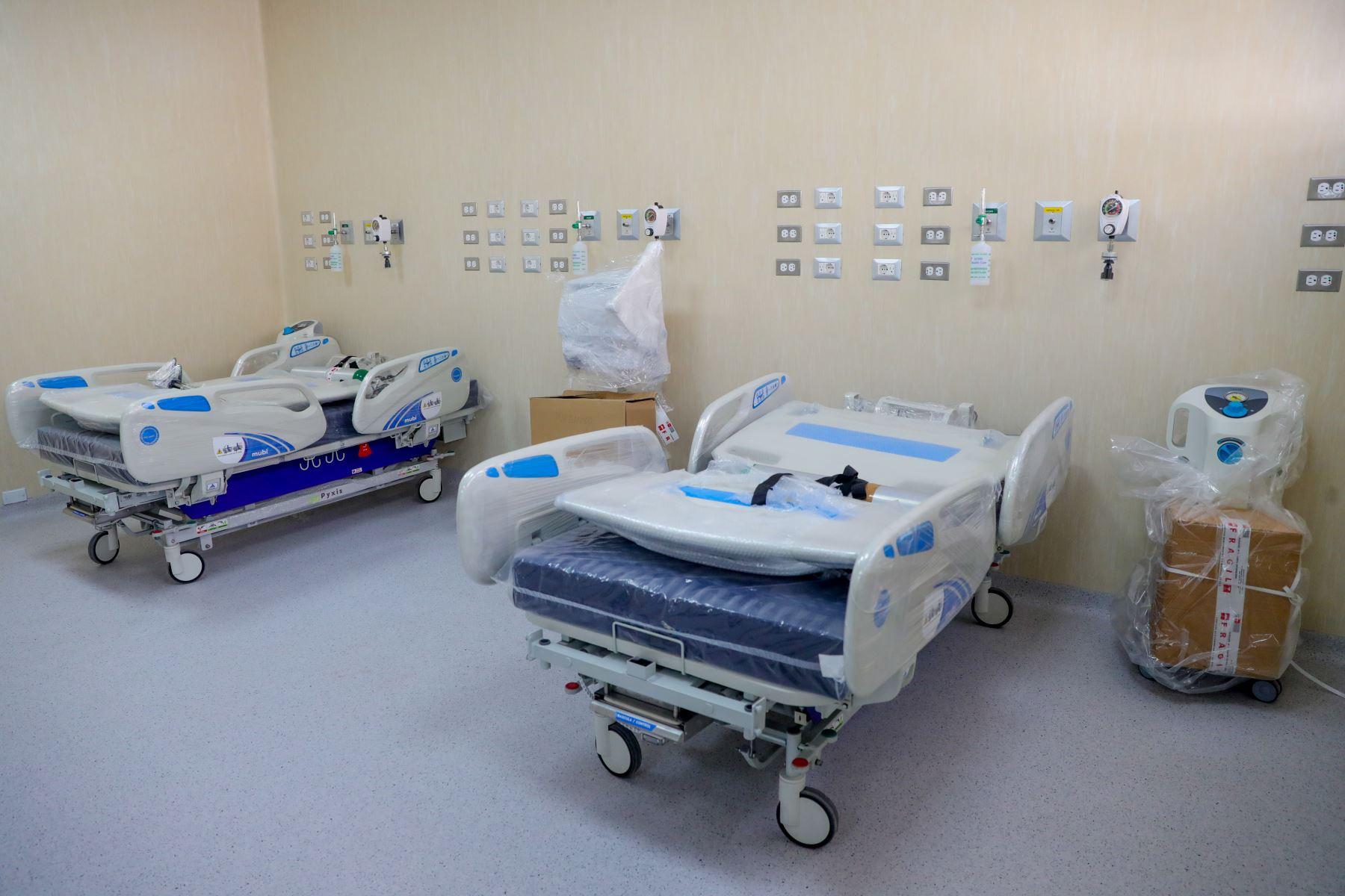 El hospital Honorio Delgado incrementó el número de camas ante el aumento de casos de pacientes covid-19. Foto: ANDINA/Prensa Presidencia