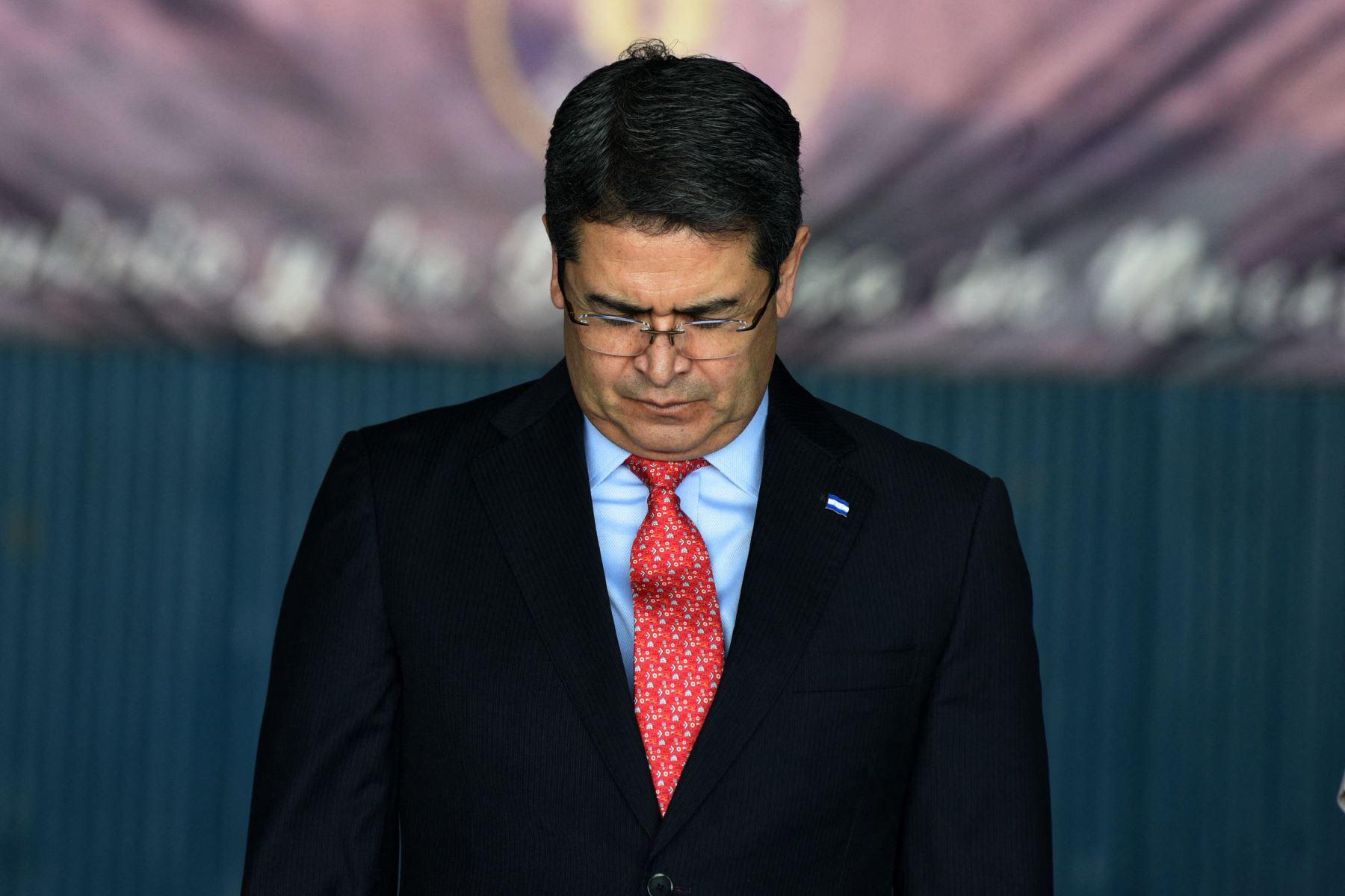 Hermano del presidente de Honduras condenado en EE. UU. a cadena perpetua por narcotráfico. Foto: AFP.