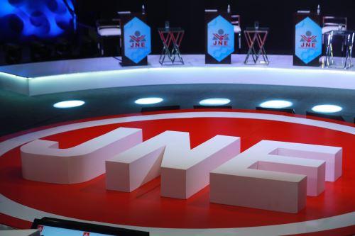 Interiores del Centro de Convenciones de Lima, donde se realizará el debate de los candidatos presidenciales, organizado por el Jurado Nacional de Elecciones. Foto: ANDINA/Carla Patiño Ramírez.