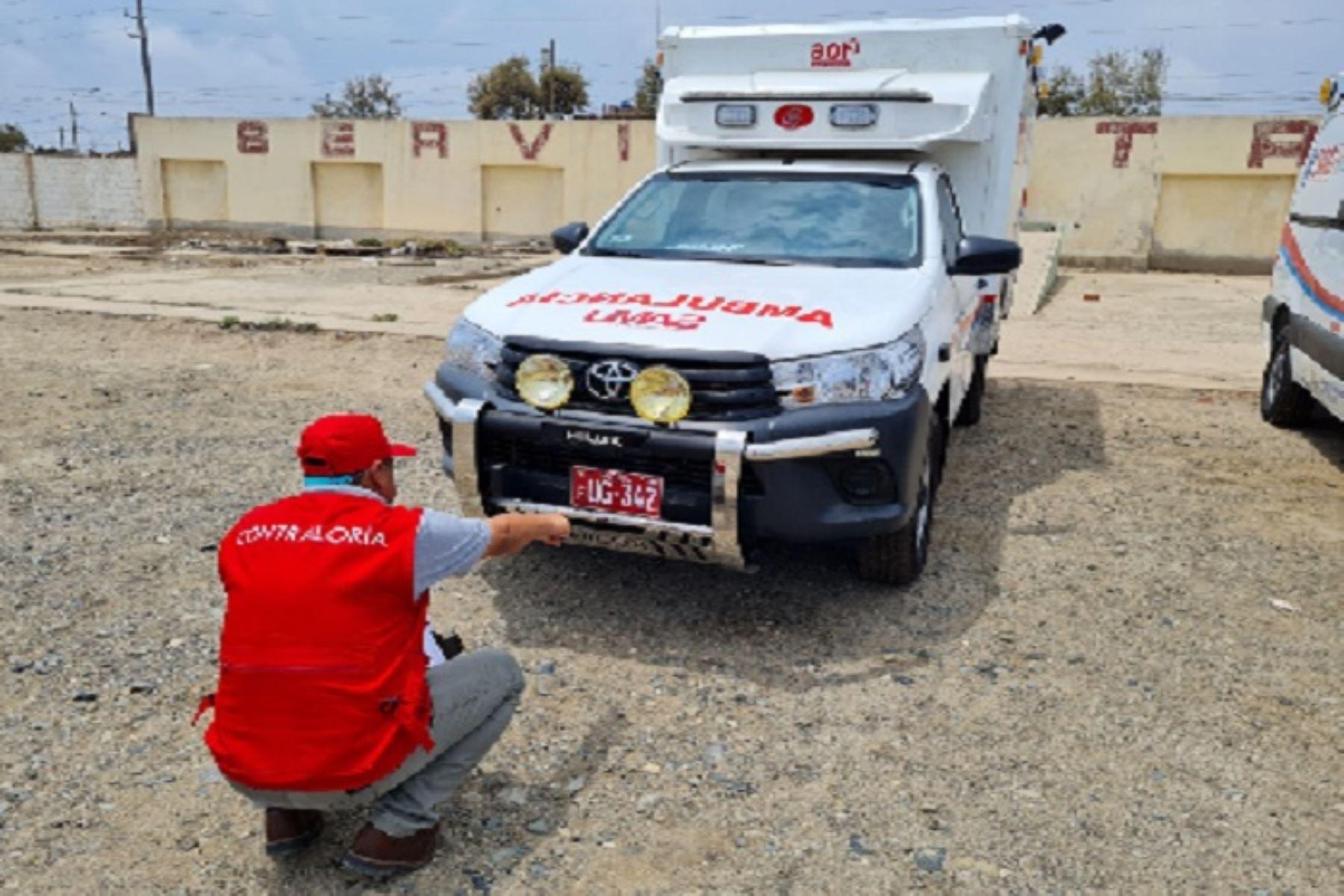 Contraloría advierte que 13  ambulancias no se usan en La Libertad por falta de personal