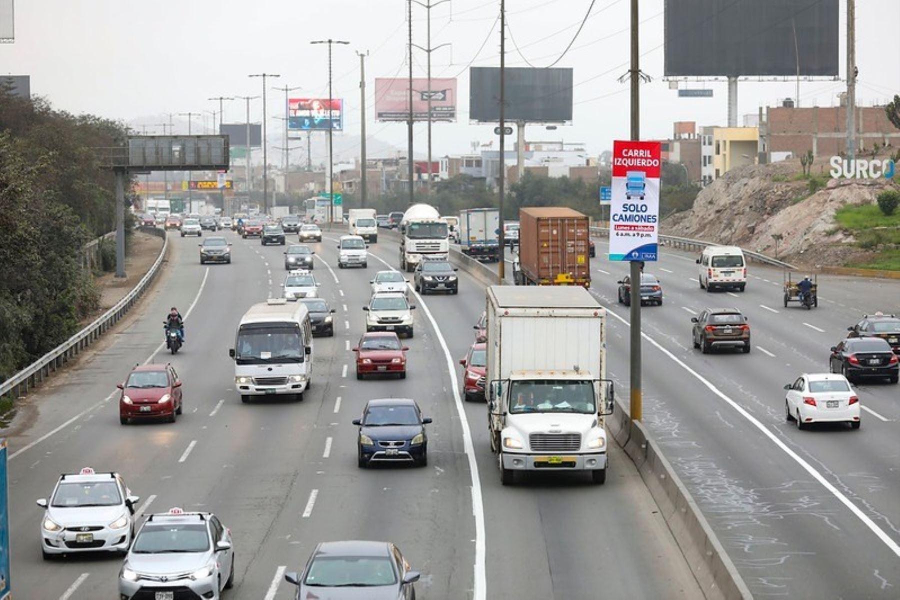 Panamericana Sur: este lunes se suspenderá el Pico y Placa para camiones. Foto: ANDINA/Difusión.