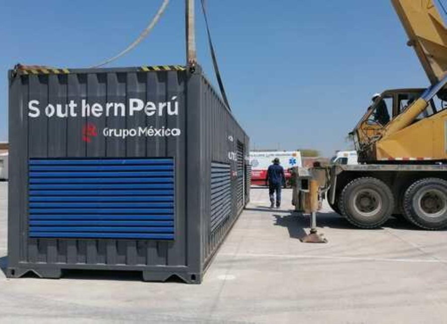 Una nueva planta de oxígeno medicinal entrará en funcionamiento en el hospital Santa Rosa de Piura. El equipo fue donado por la empresa Southern Perú a través del Minsa. ANDINA/Difusión
